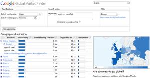 Encuentre clientes en nuevos mercados con Global Market Finder