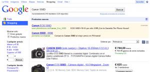 Sin coste para el anunciante, el cliente puede revisar los detalles de cada producto en Google Shopping.