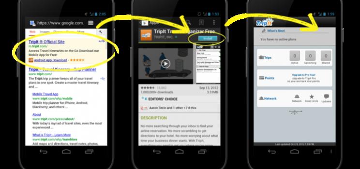 Conecta tu aplicación con tu campaña de PPC en smartphones