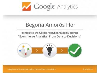 Ecommerce Analytics Certification por Google