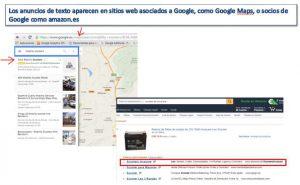 donde aparecen los anuncios de texto de google adwords