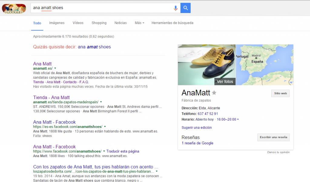 presencia para Google para una marca de moda