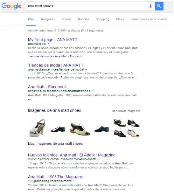 marca de moda y presencia para Google