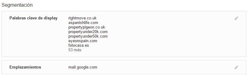 Segmentacion anuncios en Gmail