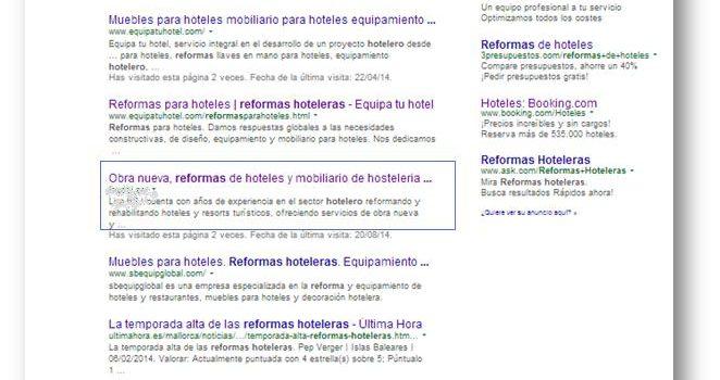 Optimización SEO: resultados
