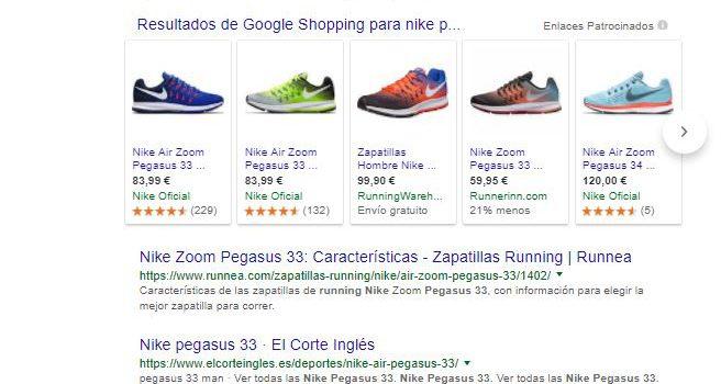 Valoraciones de Producto en Shopping