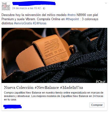 Ejemplo anuncio Facebook más atractivo